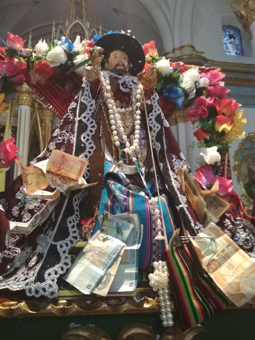 La imagen anoche, en la catedral que está dedicada a Santiago.