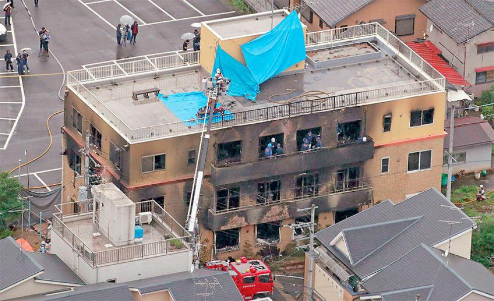 Un incendio provocado deja 33 muertos en Japón
