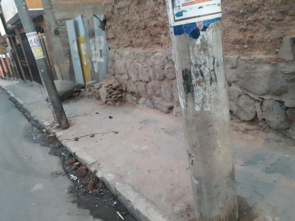 Así está este sector de la avenida Serrudo.