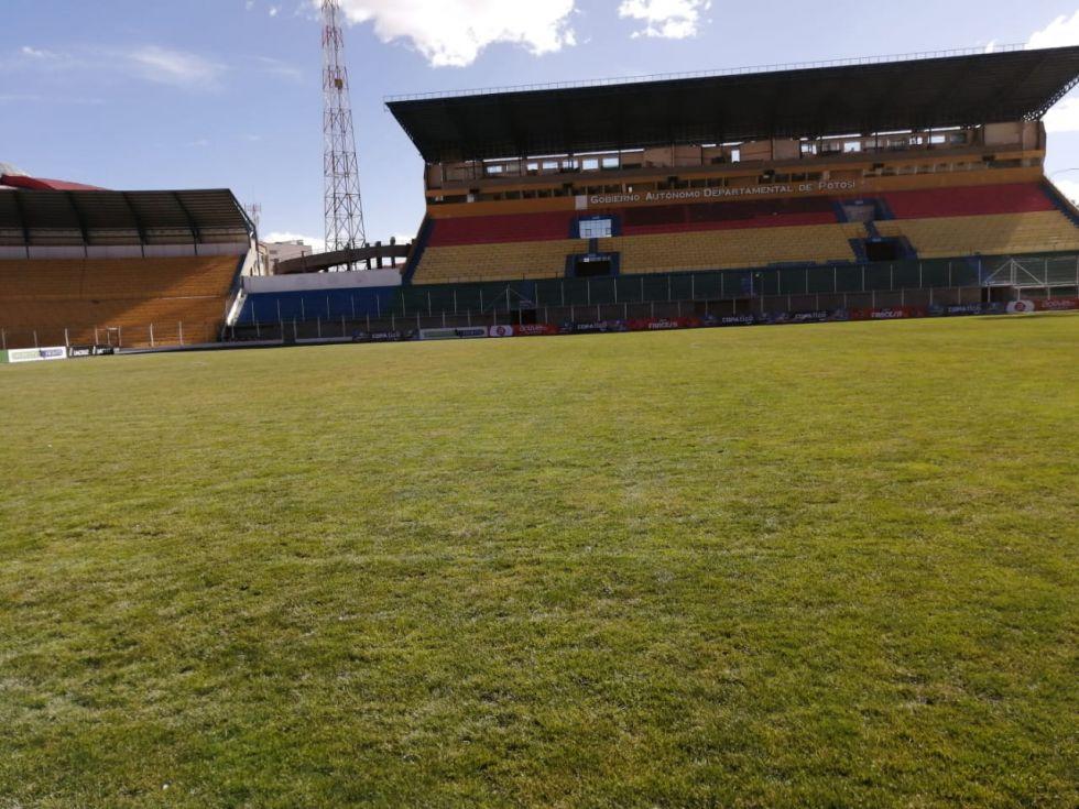 Estadio vacío.