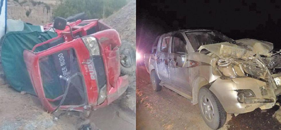 Dos accidentes provocan tres heridos en las vías de Potosí