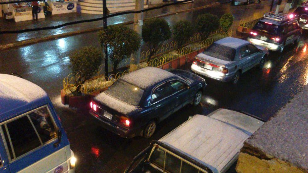 Video. Vuelve a nevar en la ciudad de Potosí