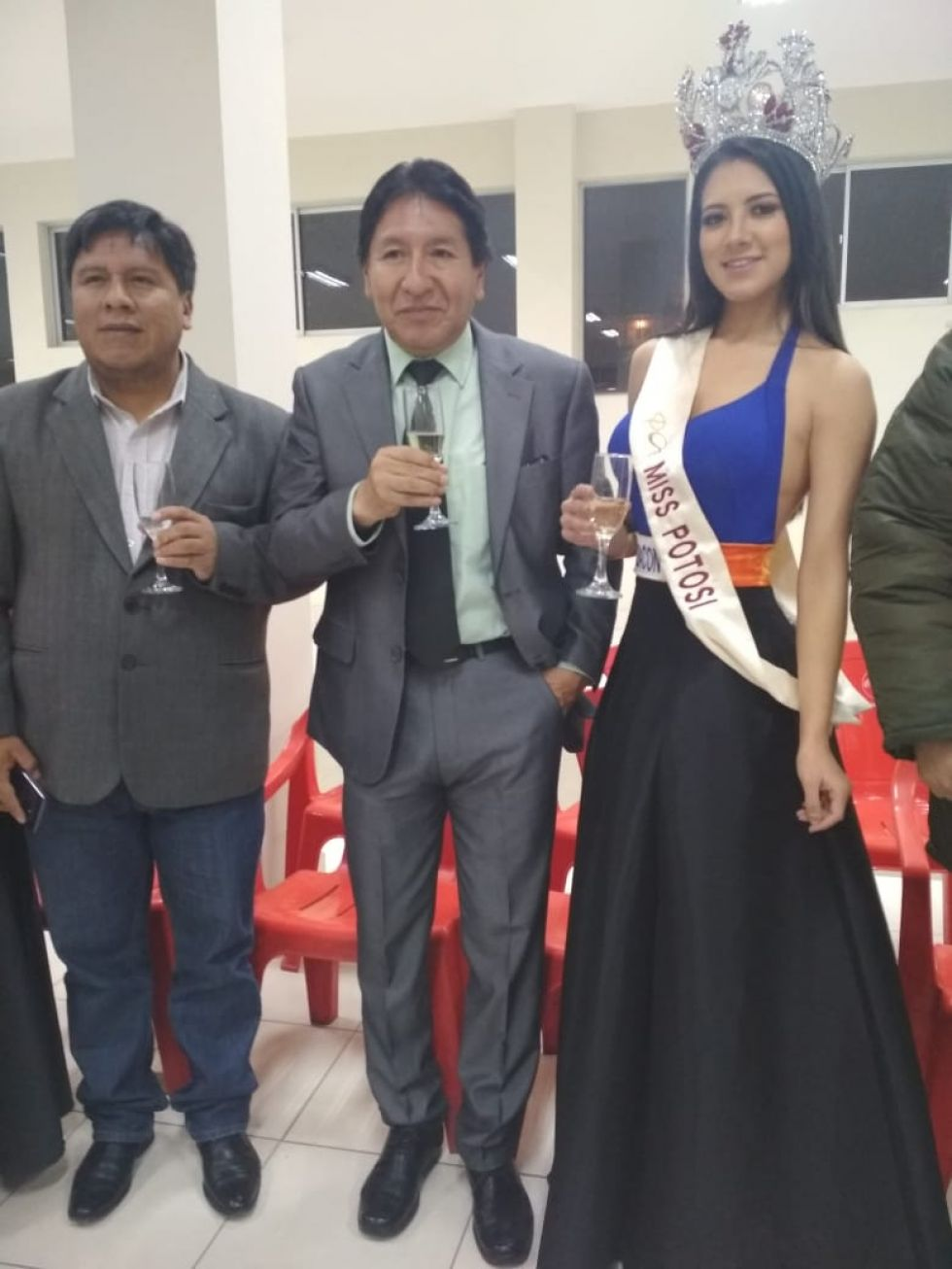 Con Miss Potosí, Pamela Caviedes