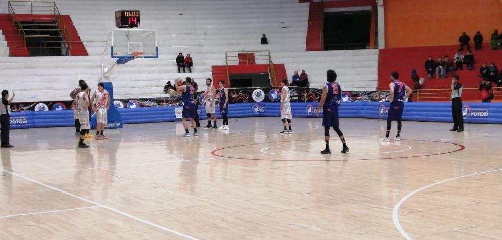 El partido se juega en el Coliseo Ciudad de Potosí