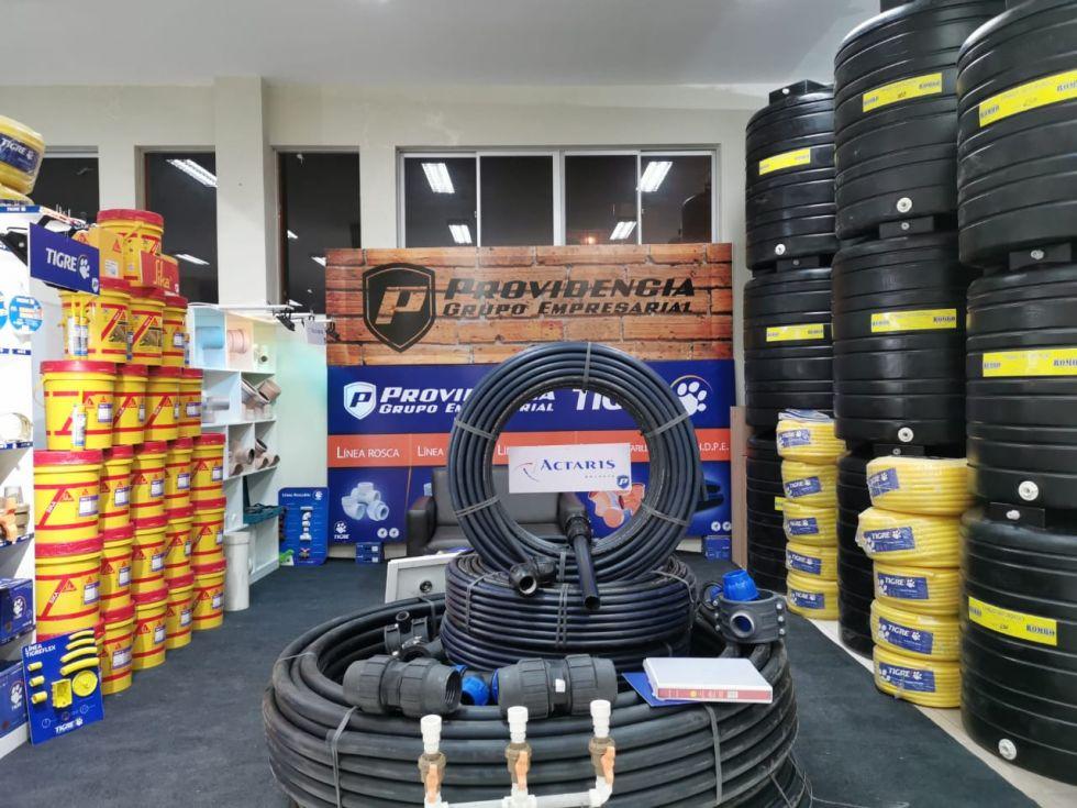 Grupo empresarial Providencia, productos para plomería, electricidad, agua potable, riego y alcantarillado.