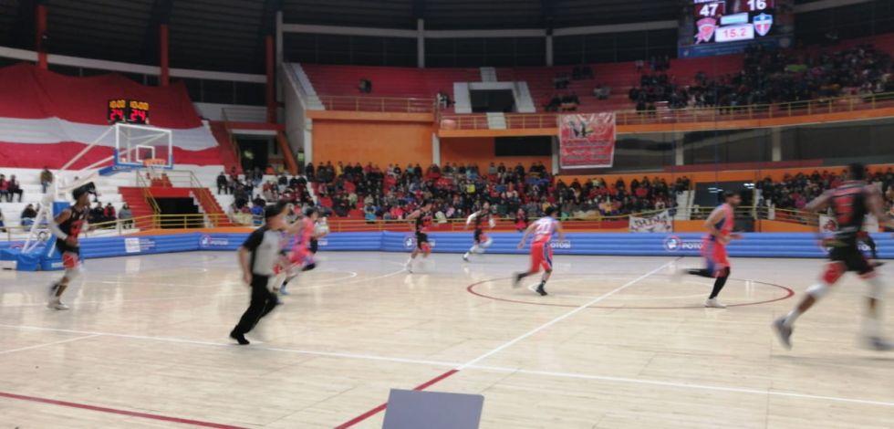 Jugaron en el Coliseo Ciudad de Potosí.