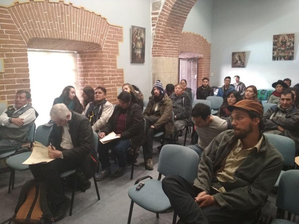 Los asistentes al foro ciudadano que se realizó en la Casa Nacional de Moneda.