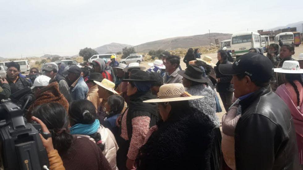 Algunos marchistas llegaron hasta Cantumarca.