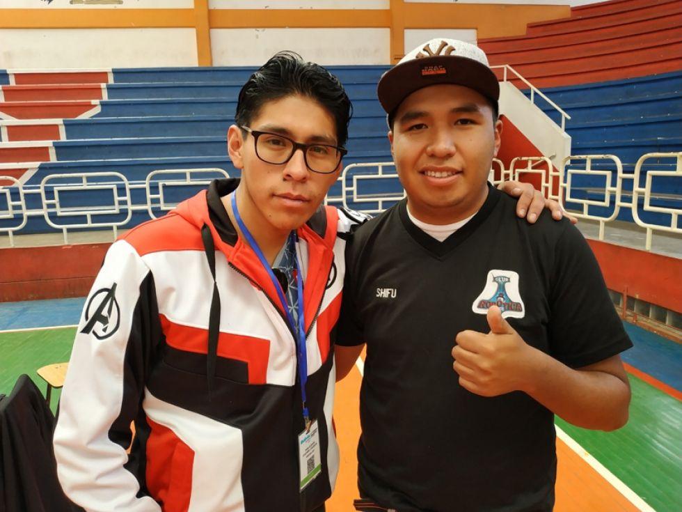 El potosino Pablo Jesús Guzmán Churata (izquierda).