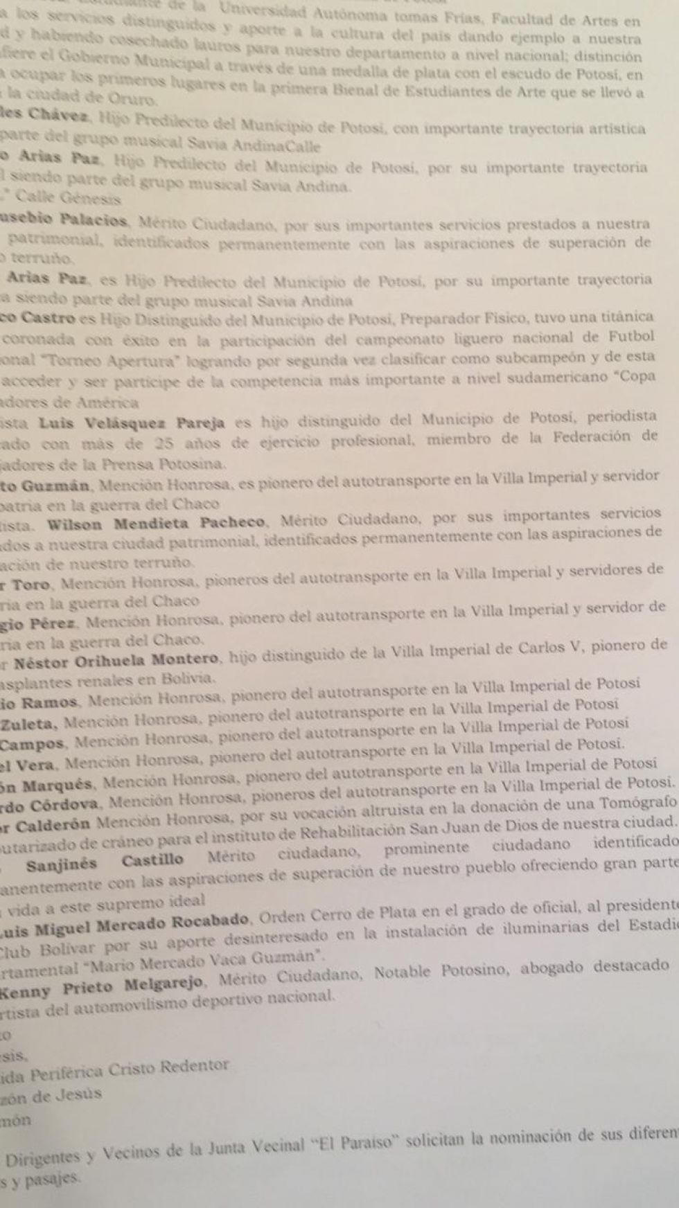 El informe de la comisión.