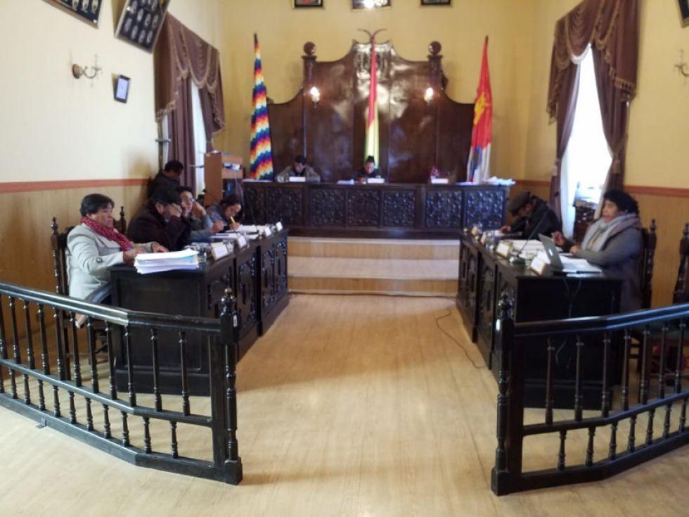 La sesión de ayer del Concejo Municipal.
