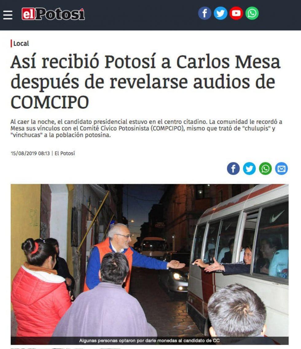 Falsifican noticias de El Potosí por segundo día consecutivo