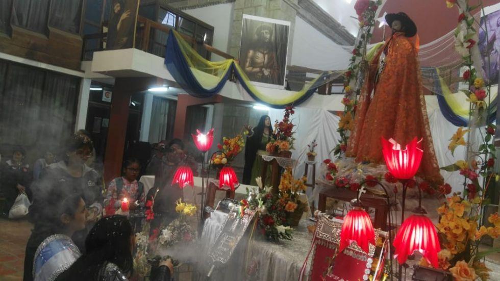 En el templo de San Bernardo.