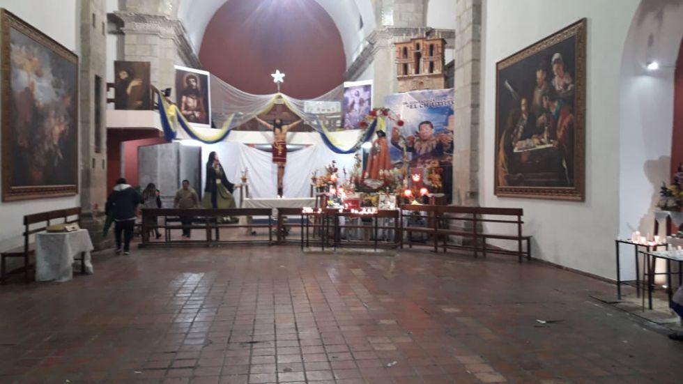 Así quedó el templo de San Bernardo.