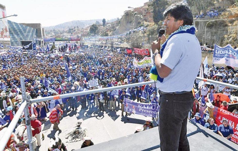 Morales reivindica la fuerza electoral del MAS en La Paz
