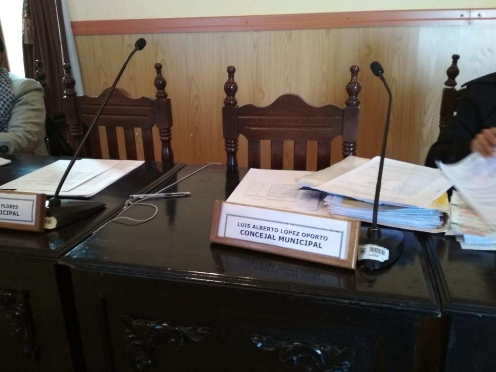 El curul de López está vacío hoy lunes.