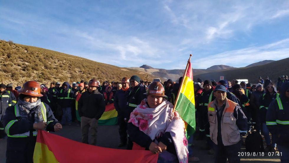Se movilizan en La Paz.