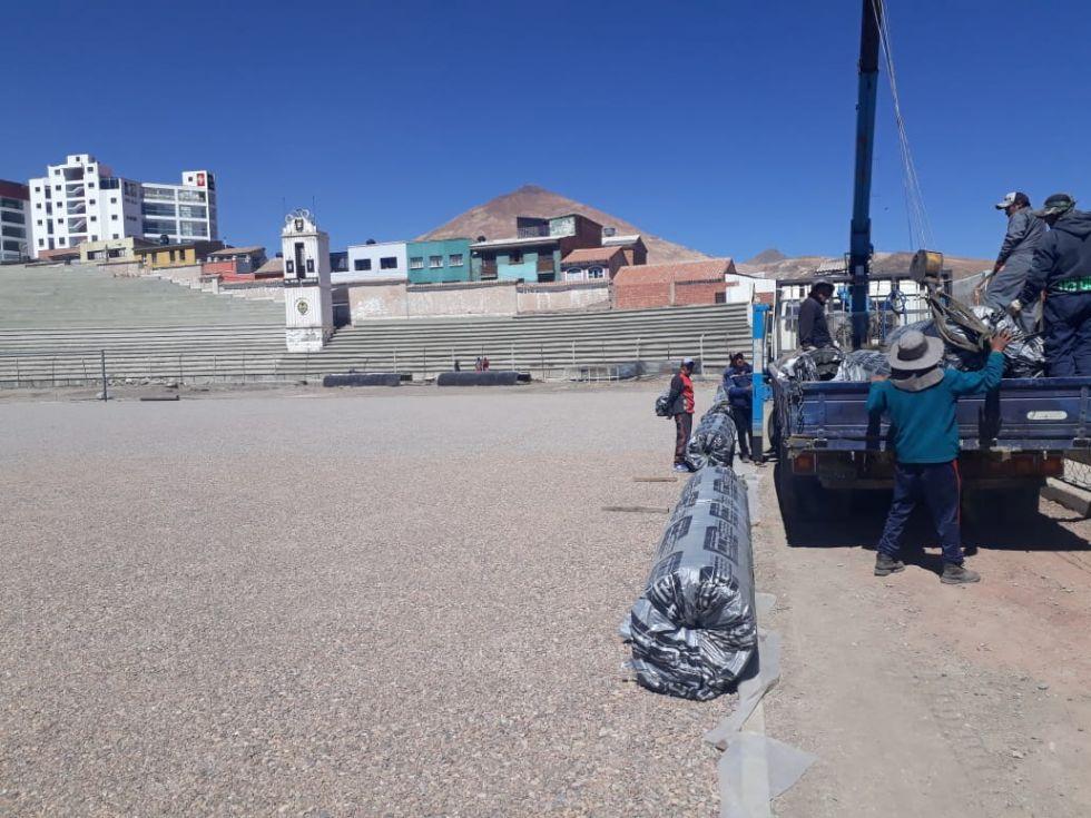 El estadio Potosí tendrá césped nuevo