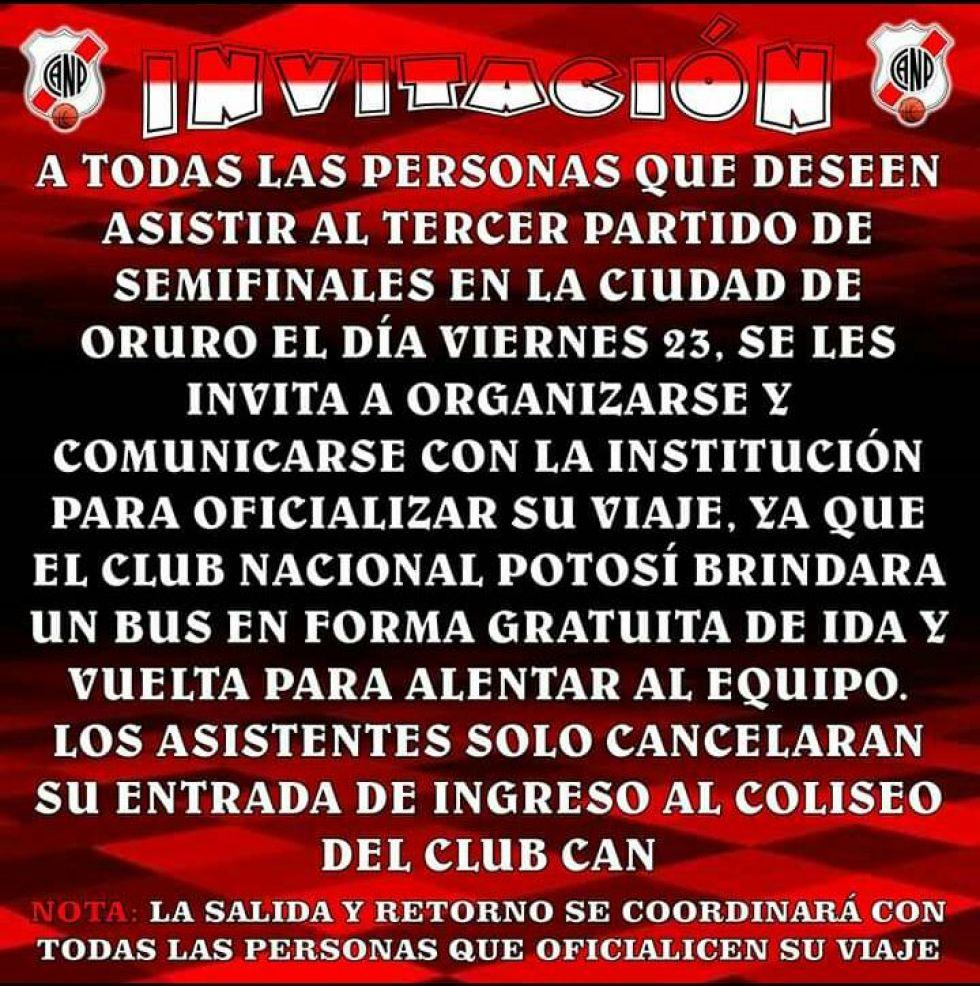 La información del club sobre esta promoción.