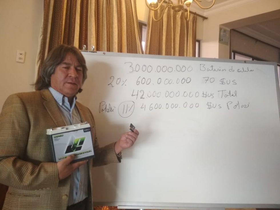 Candidato Careaga cree que Potosí debe percibir el 11 por ciento de regalías por el litio