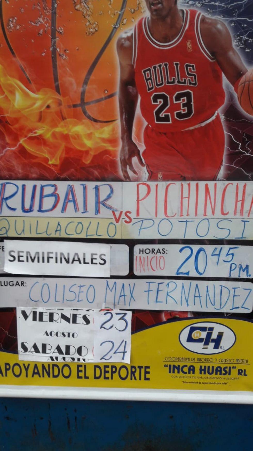 El cartel que anuncia el partido.