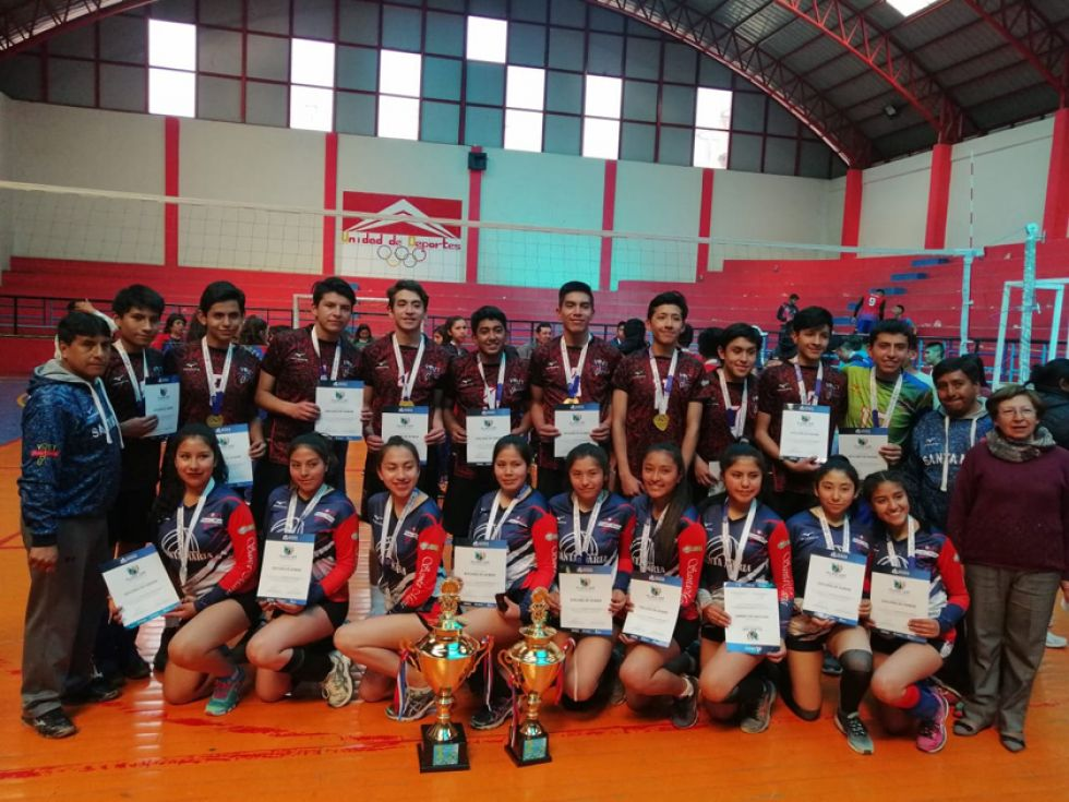 Santa María, campeones en voleibol.
