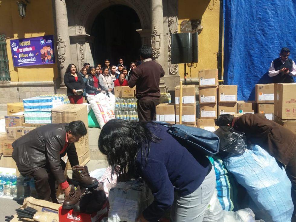 El apoyo de los potosinos para la Chiquitanía partirá esta jornada.