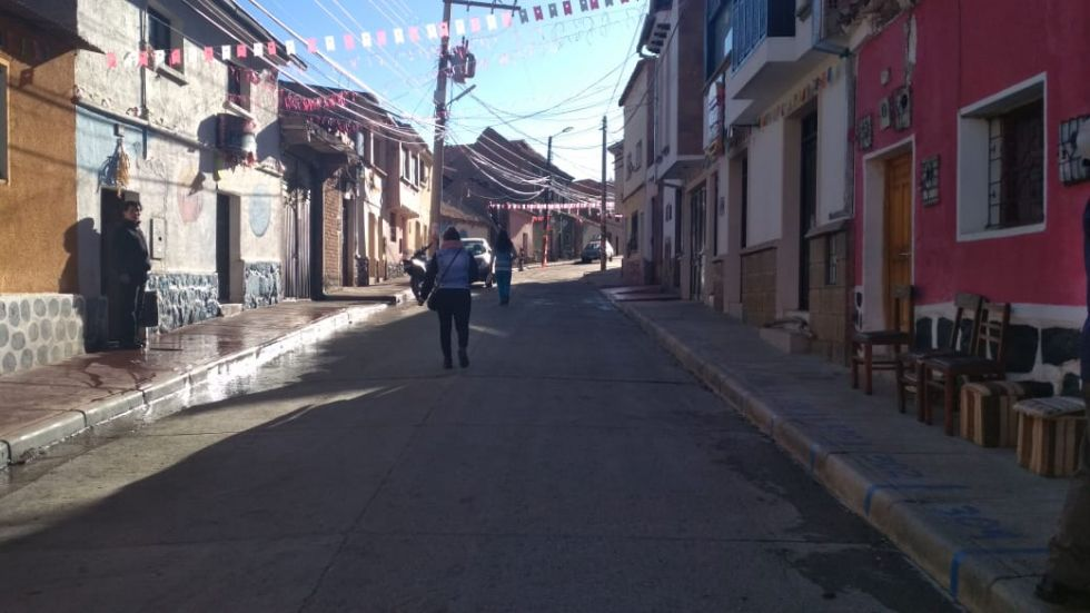 Así luce la calle Mejillones.