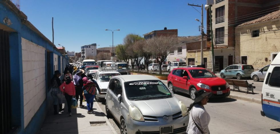 Congestionamiento vehicular en la h Players y Universitaria