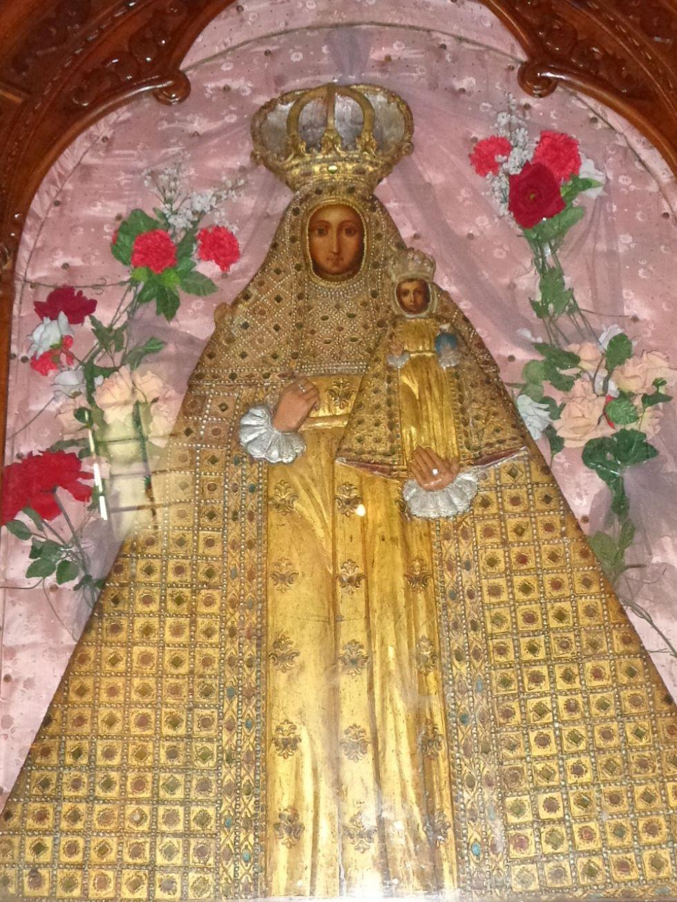 La imagen pintada en tabla por fray Diego de Ocaña.