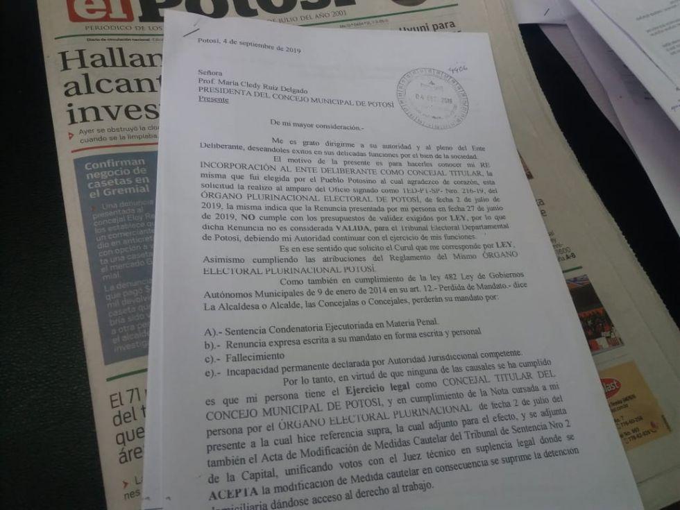 La carta de Prieto.