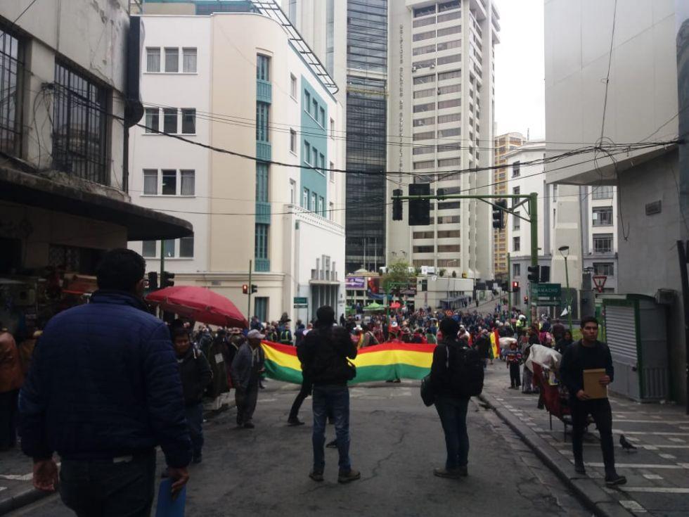 Las protestas en La Paz.