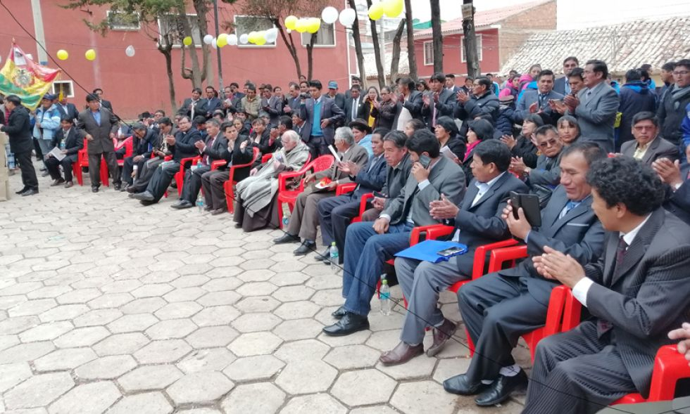 El acto central realizado en la plaza Zampa.