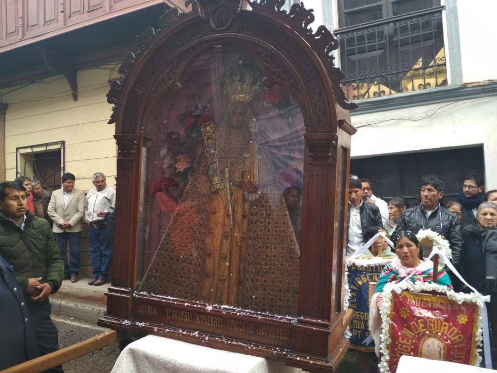 Altar de la familia Martínez en la calle Linares.