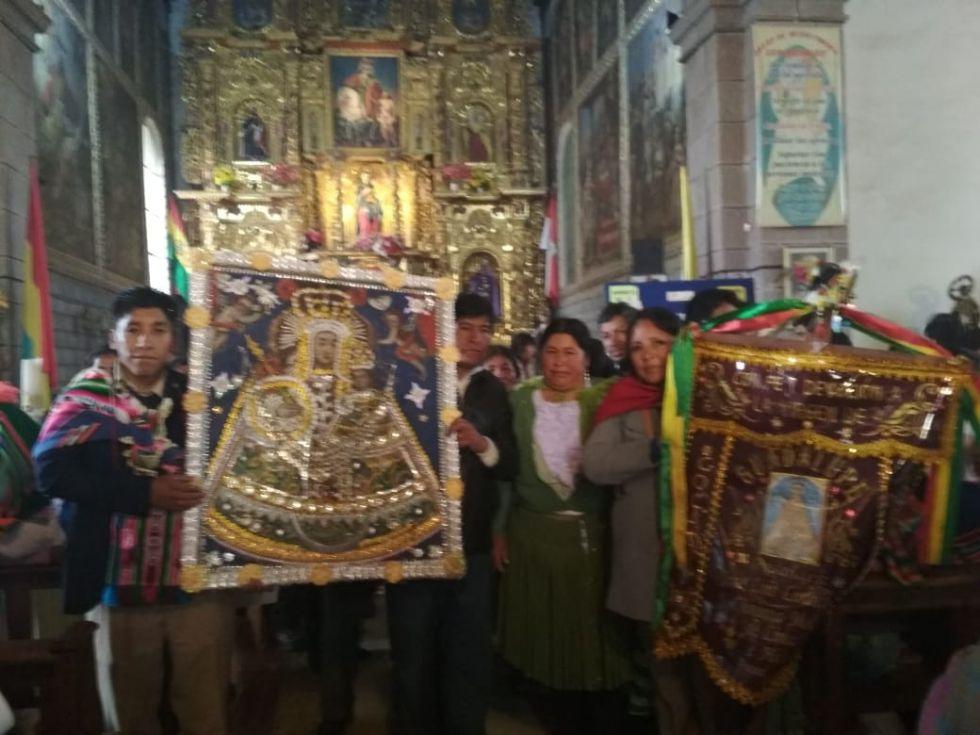 La procesión retornó al templo de San Martín
