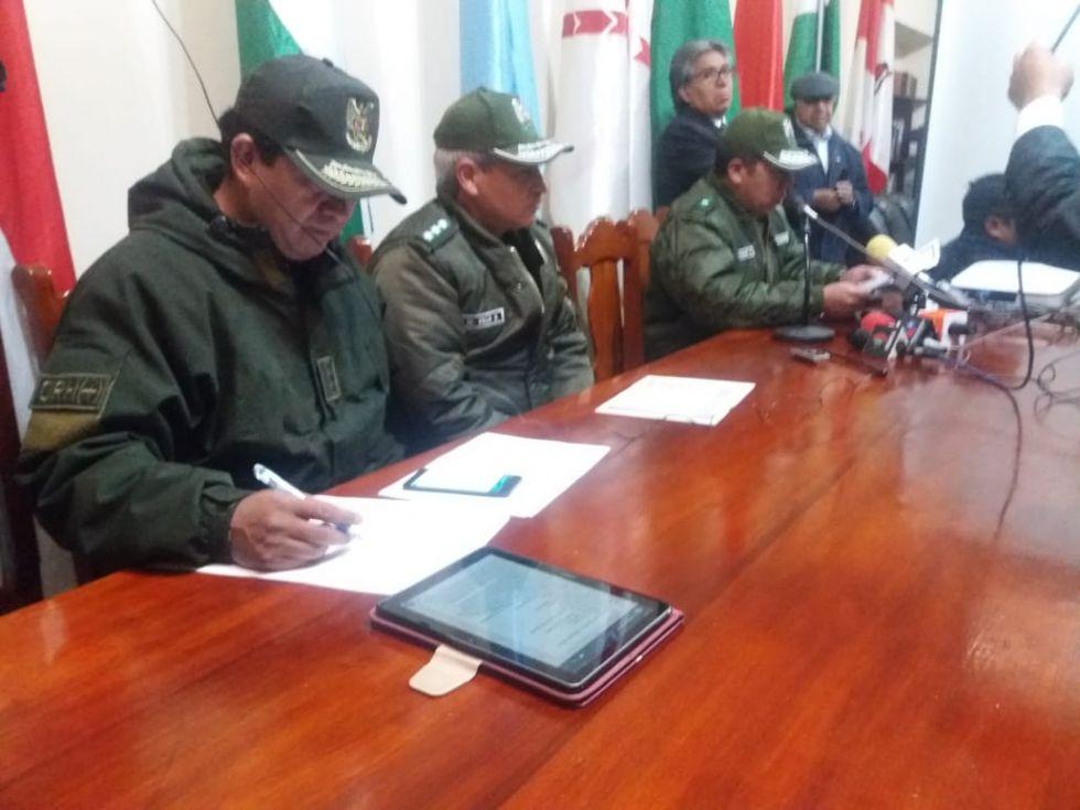 La Policía informó sobre la movilización.