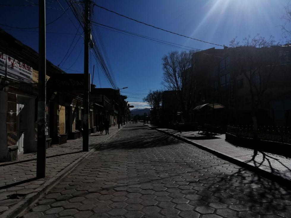 La ciudad turística está totalmente bloqueada.