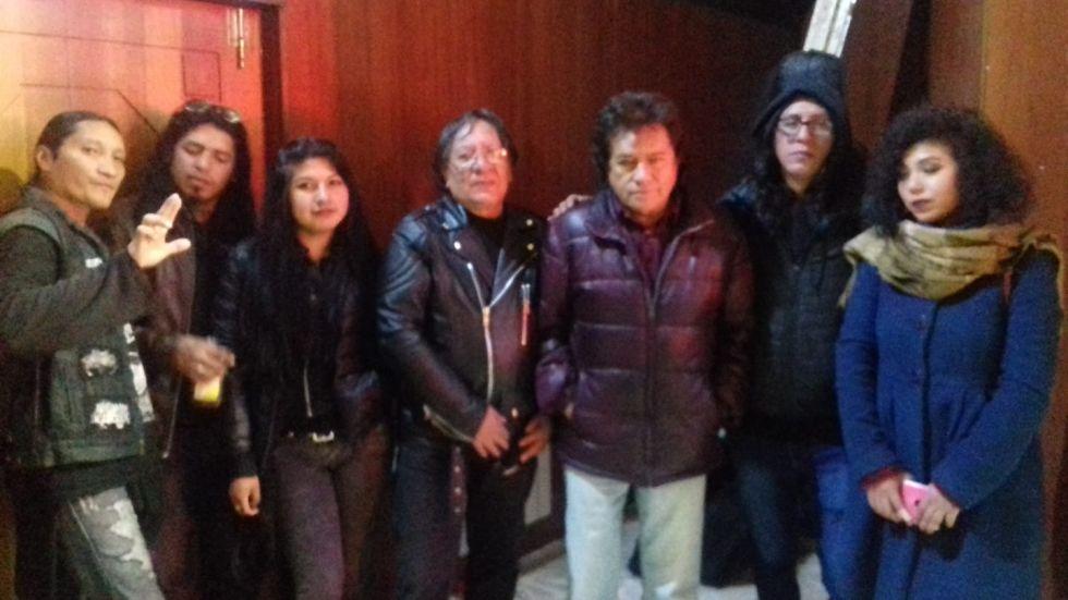 Gerardo Arias fue a ver a las bandas.