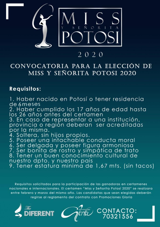 Lanzan la convocatoria para Miss y Señorita Potosí 2020