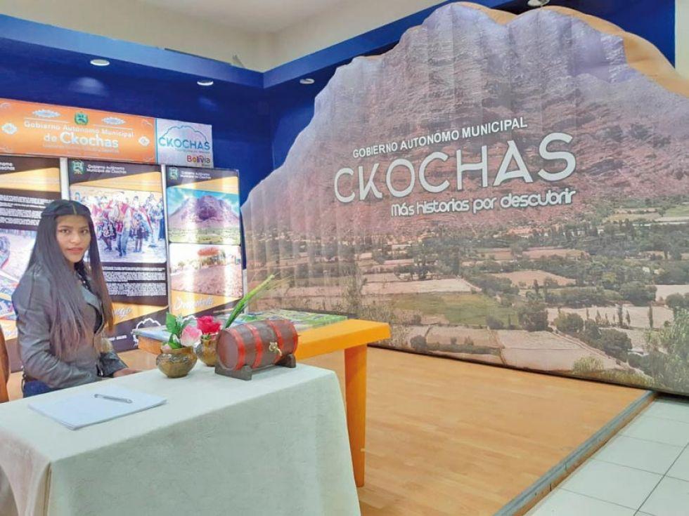 La penúltima región en declararse como municipio, Ckochas, participa en la feria.