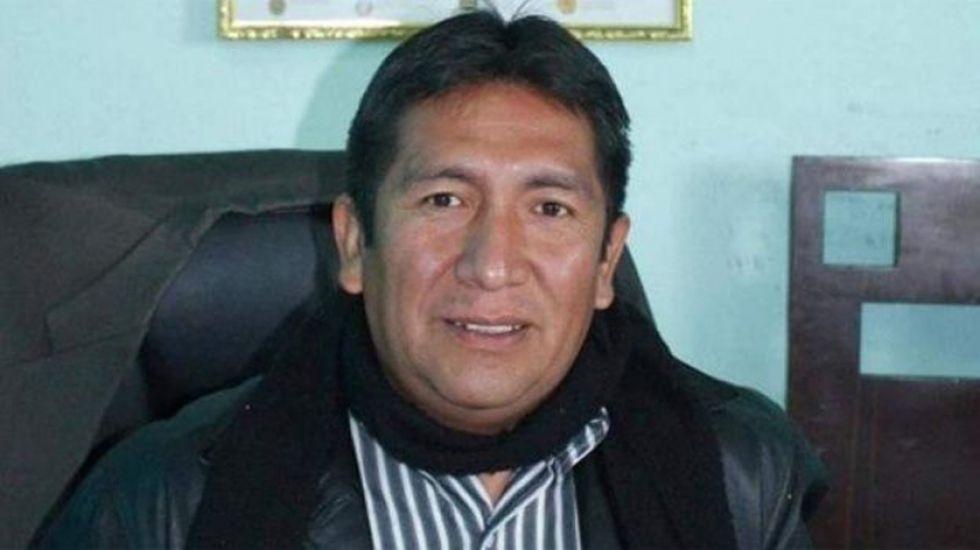 El alcalde de Uyuni Patricio Mendoza.