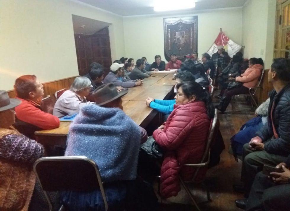 La reunión de directorio ampliado con representantes de organizaciones afiliadas a Comcipo.
