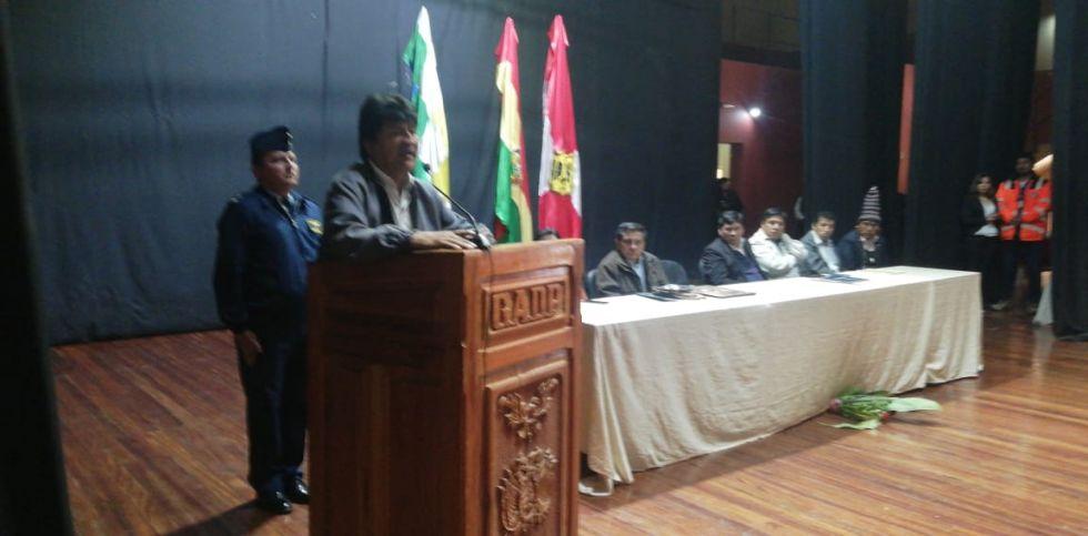 El presidente Evo Morales.