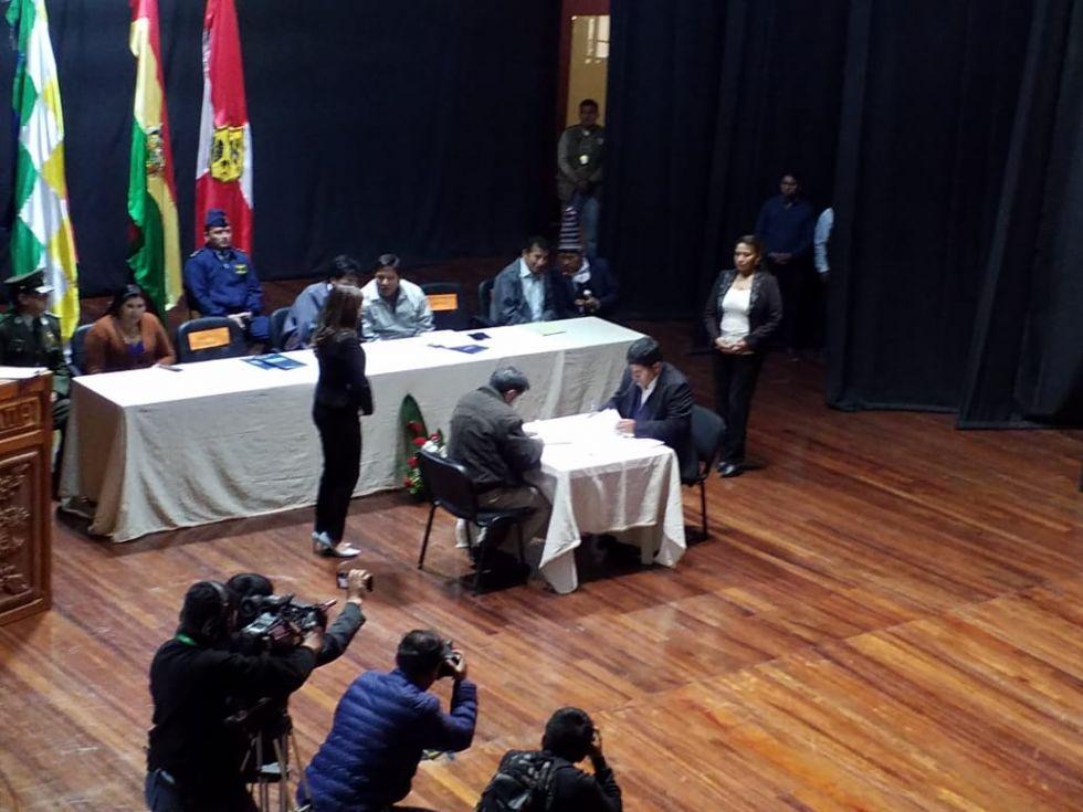 Se realizó la firma del convenio de cofinanciamiento.