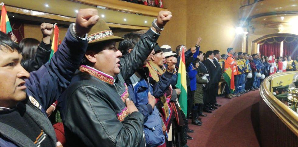 El presidente Evo Morales visita Potosí.