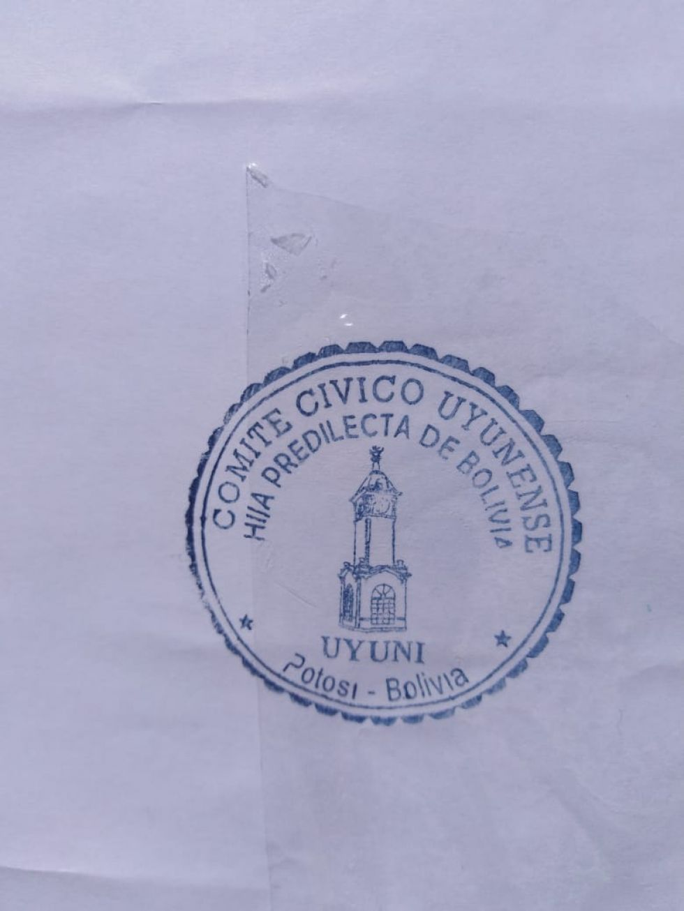 El letrero tiene este sello.