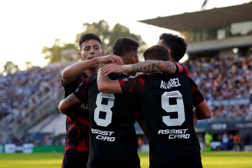 Jorge Carrascal festeja el gol.