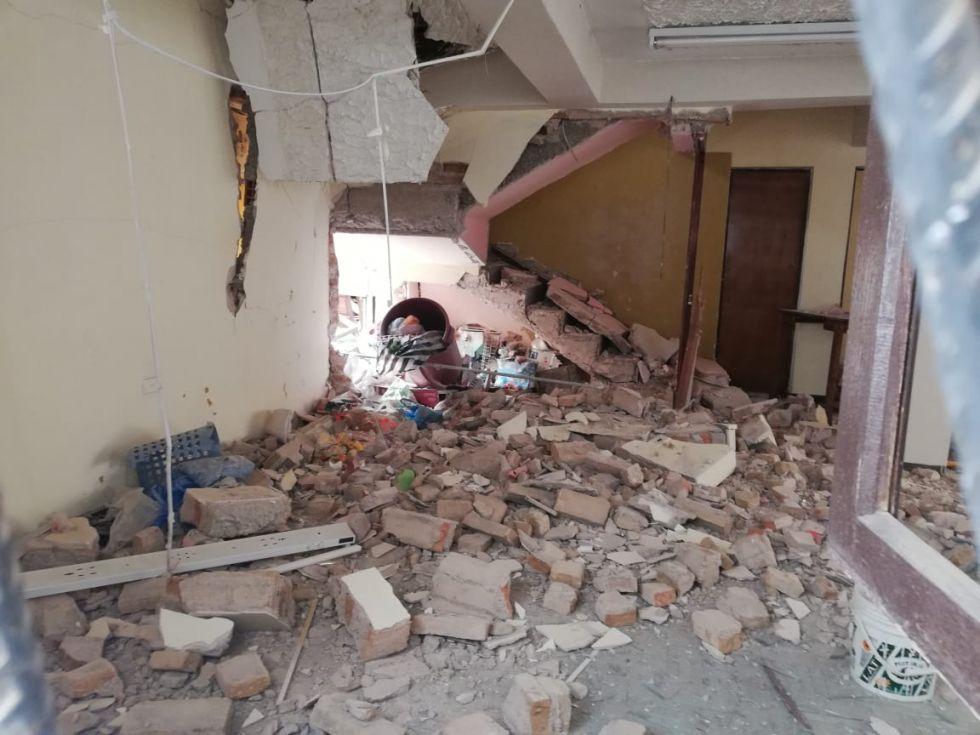 Reportaron daños materiales y personales.