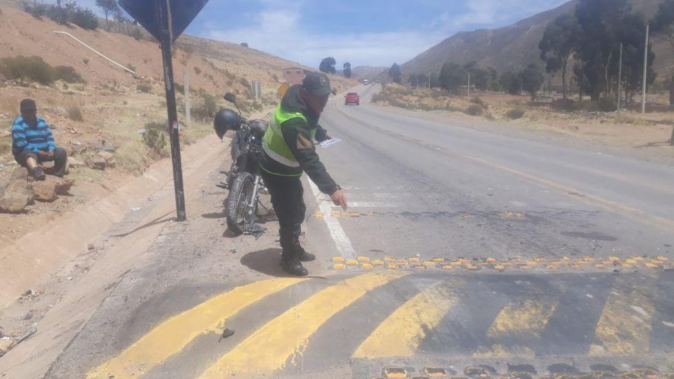 Reportan accidente en carretera.