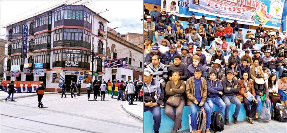 Un bloqueo en la ciudad de Potosí y la reunión de los 11 municipios del sudoeste potosino.